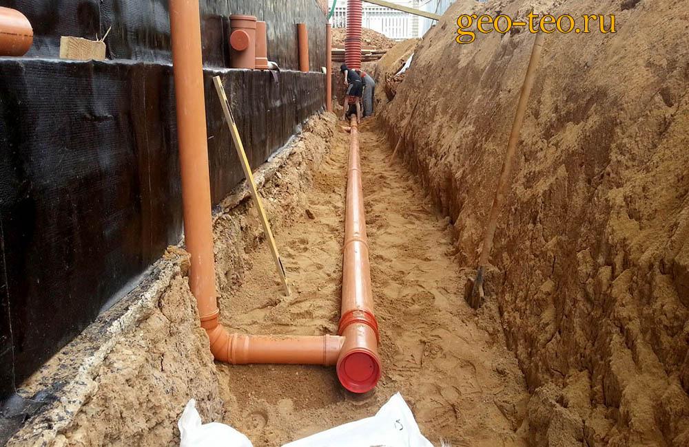 Исполнительная съёмка канализации - фото