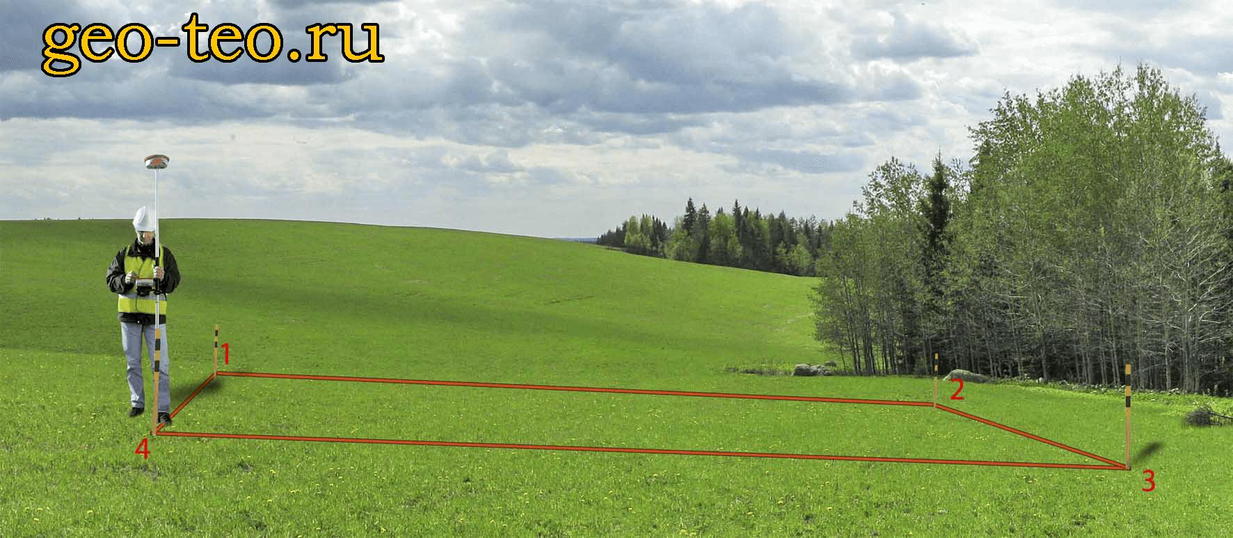 Вынос в натуру границ земельного участка - фото